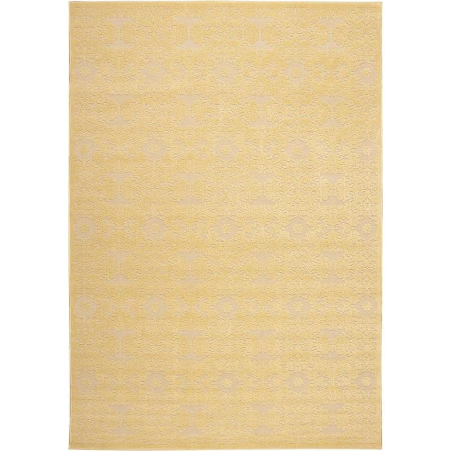 Nourison Graphic Illusions Yellow 605 Indoor Area Rug (Common: 8 x 10; Actual: 7.75-ft W x 10.8333-ft L)