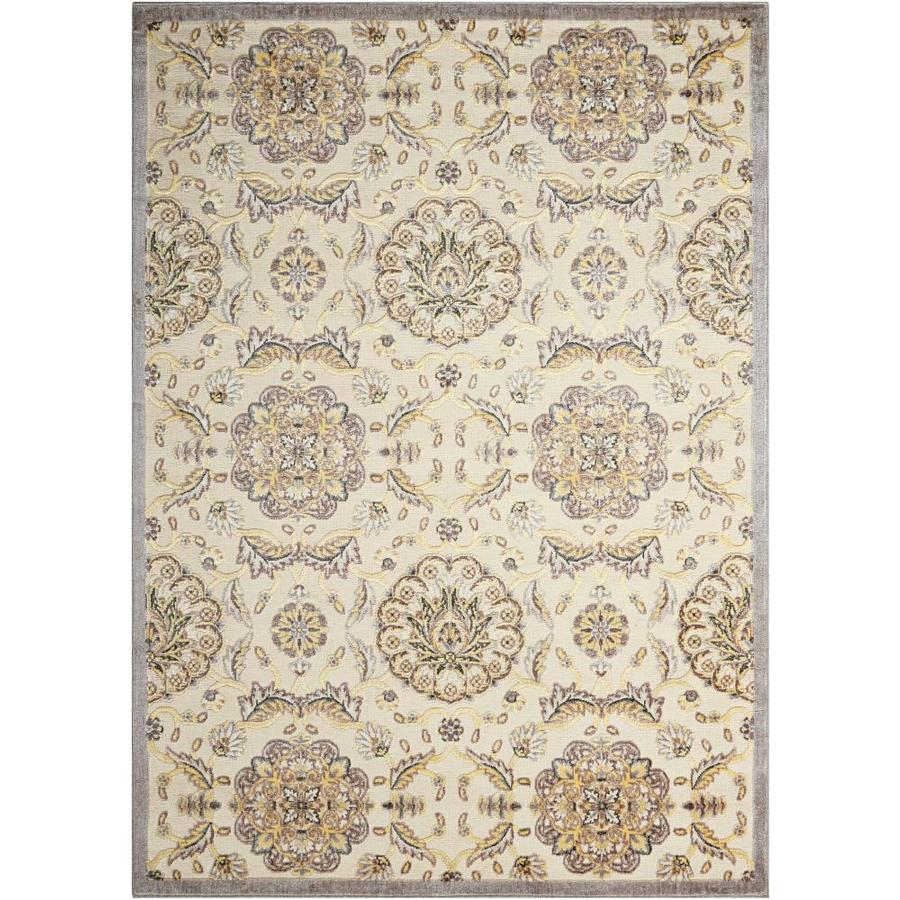 Nourison Graphic Illusions Ivory Rectangular Indoor