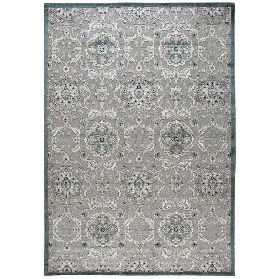 Nourison Graphic Illusions Grey Rectangular Indoor Area Rug (Common: 8 x 10; Actual: 7.75-ft W x 10.83-ft L x 0.5-ft dia)