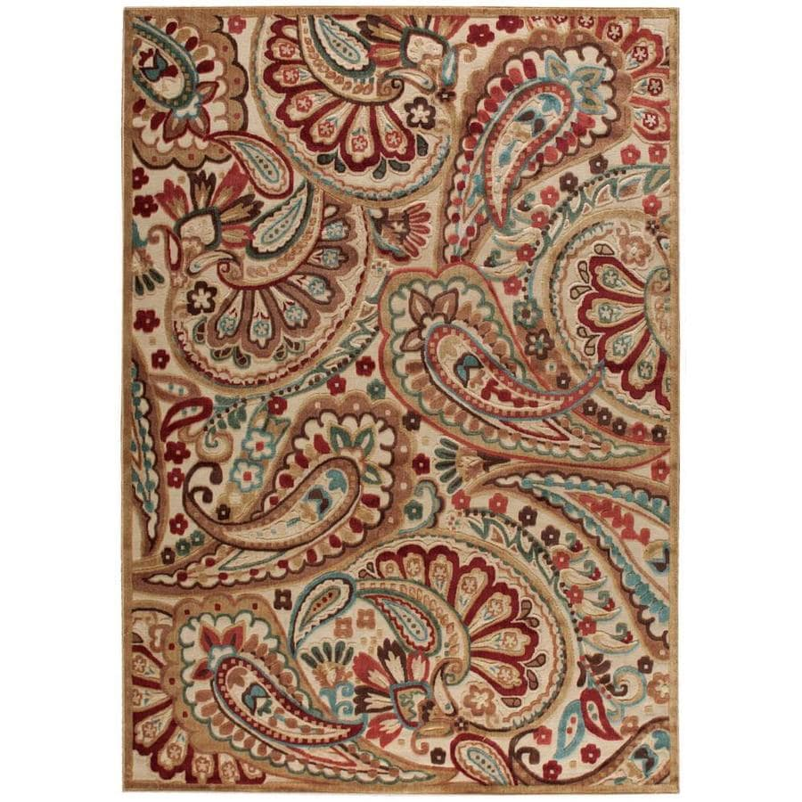 Nourison Graphic Illusions Lt Indoor Area Rug (Common: 8 x 10; Actual: 7.75-ft W x 10.83-ft L x 0.5-ft dia)