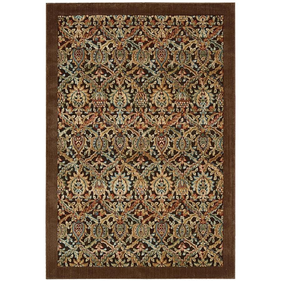 Nourison Graphic Illusions Chocolate Indoor Area Rug (Common: 2 x 4; Actual: 2.25-ft W x 3.75-ft L x 0.5-ft dia)