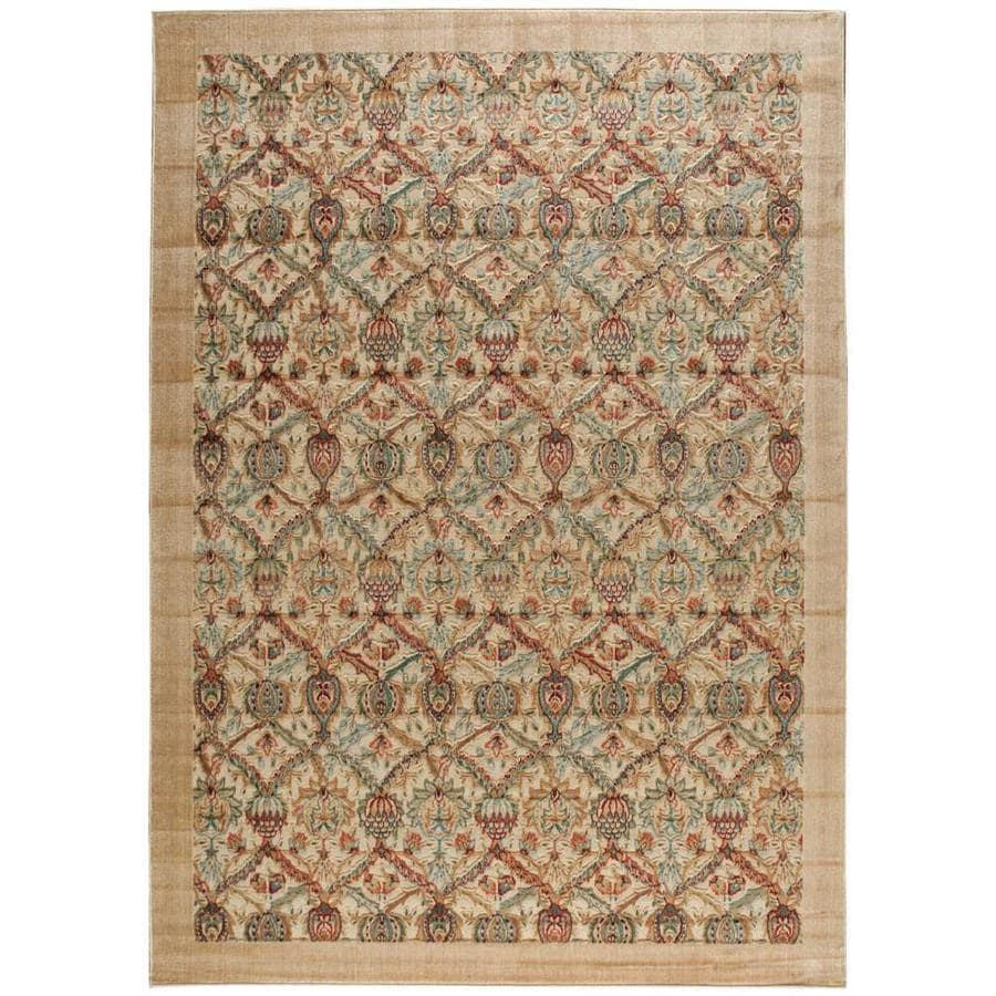 Nourison Graphic Illusions Light Yellow Rectangular Indoor Area Rug (Common: 8 x 10; Actual: 7.75-ft W x 10.83-ft L x 0.5-ft dia)