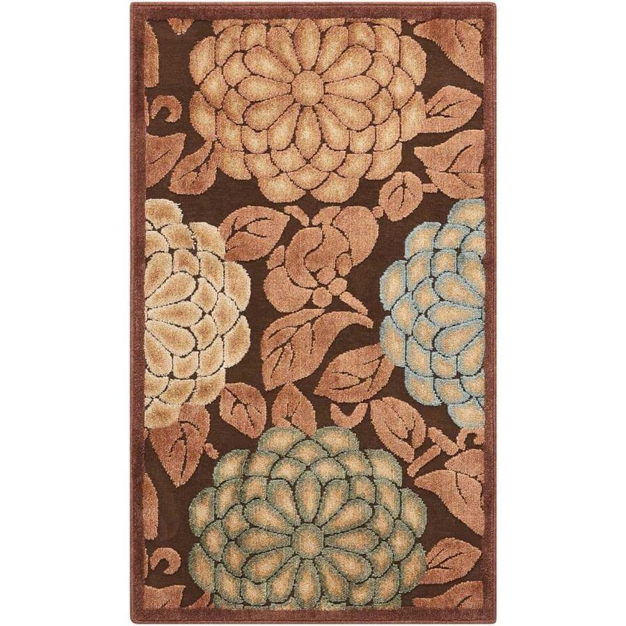 Nourison Graphic Illusions Brown Rectangular Indoor Area Rug (Common: 2 x 4; Actual: 2.25-ft W x 3.75-ft L x 0.5-ft dia)