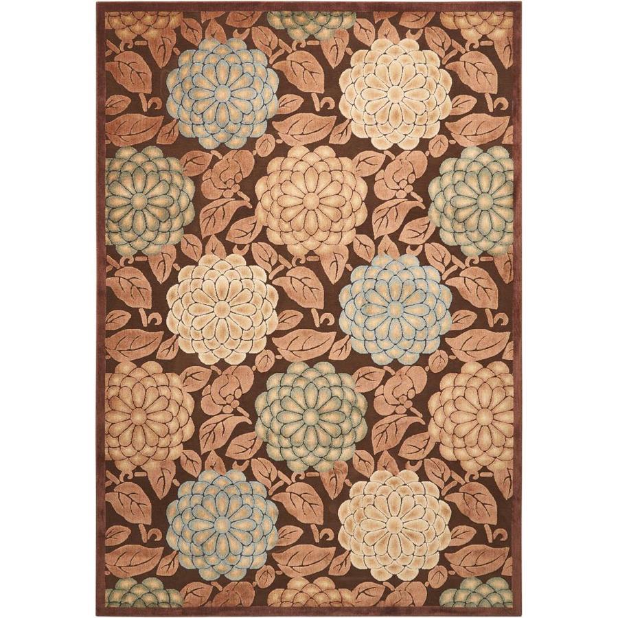 Nourison Graphic Illusions Brown Rectangular Indoor Area Rug (Common: 8 x 10; Actual: 7.75-ft W x 10.83-ft L x 0.5-ft dia)