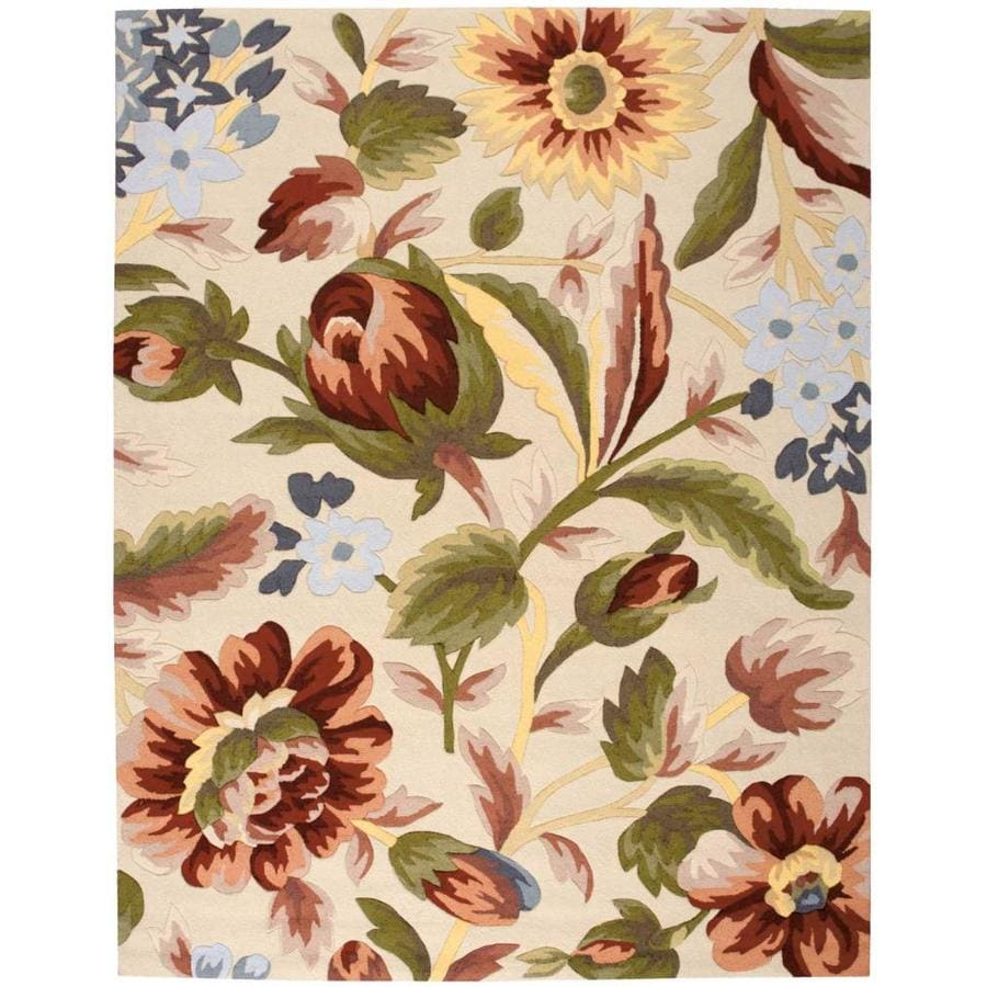 Nourison Fantasy Ivory Handcrafted Area Rug (Common: 8 x 10; Actual: 8-ft W x 10.5-ft L)