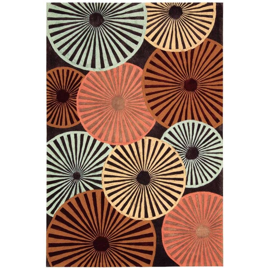 Nourison Contour Indoor Handcrafted Area Rug (Common: 3 x 5; Actual: 3.5-ft W x 5.5-ft L)