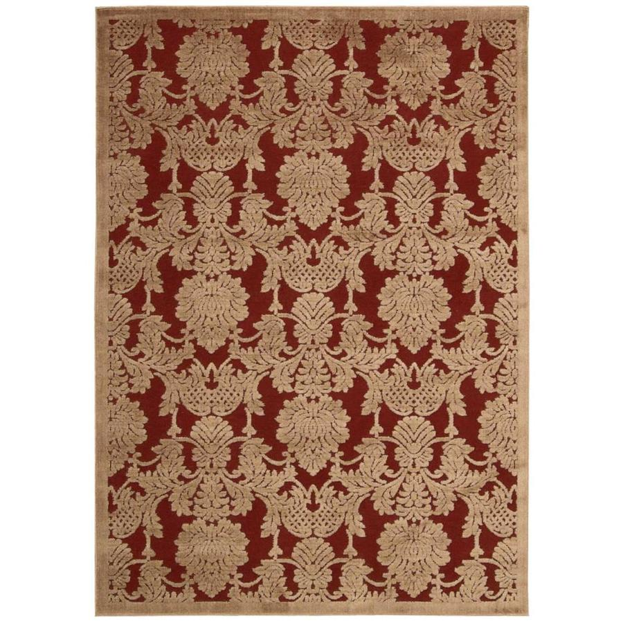 Nourison Graphic Illusions Red Rectangular Indoor Area Rug (Common: 8 x 10; Actual: 7.75-ft W x 10.83-ft L x 0.5-ft dia)