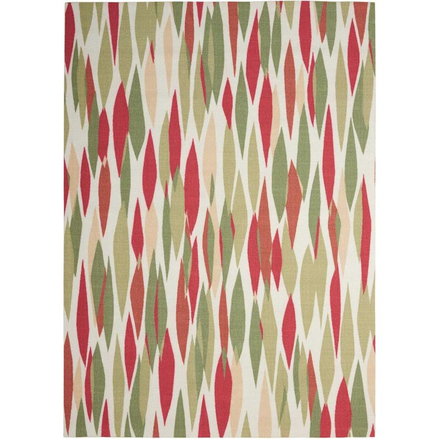 Waverly Sun and Shade Blossom Rectangular Indoor/Outdoor Machine-Made Area Rug (Common: 5 x 7; Actual: 63-in W x 89-in L)