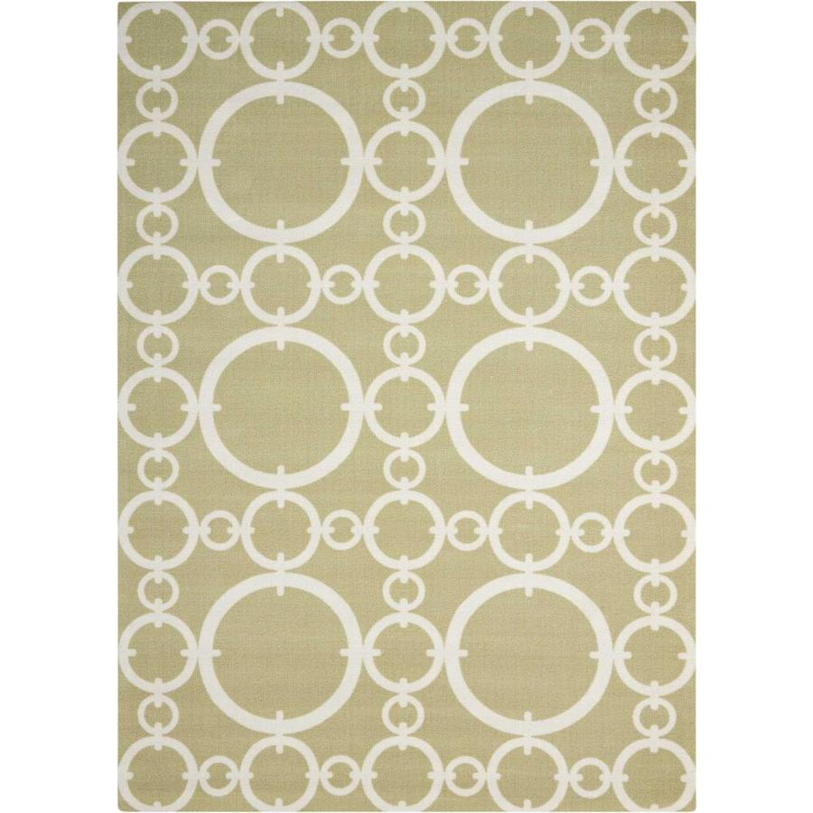 Waverly Sun and Shade Citrine Rectangular Indoor/Outdoor Machine-Made Novelty Area Rug (Common: 5 x 7; Actual: 5.3-ft W x 7.5-ft L)