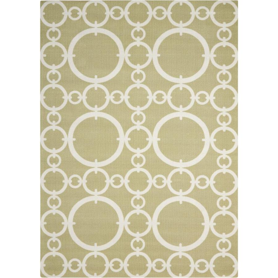 Nourison Waverly Sun And Shade Connected Citrine Indoor Outdoor Area Rug By