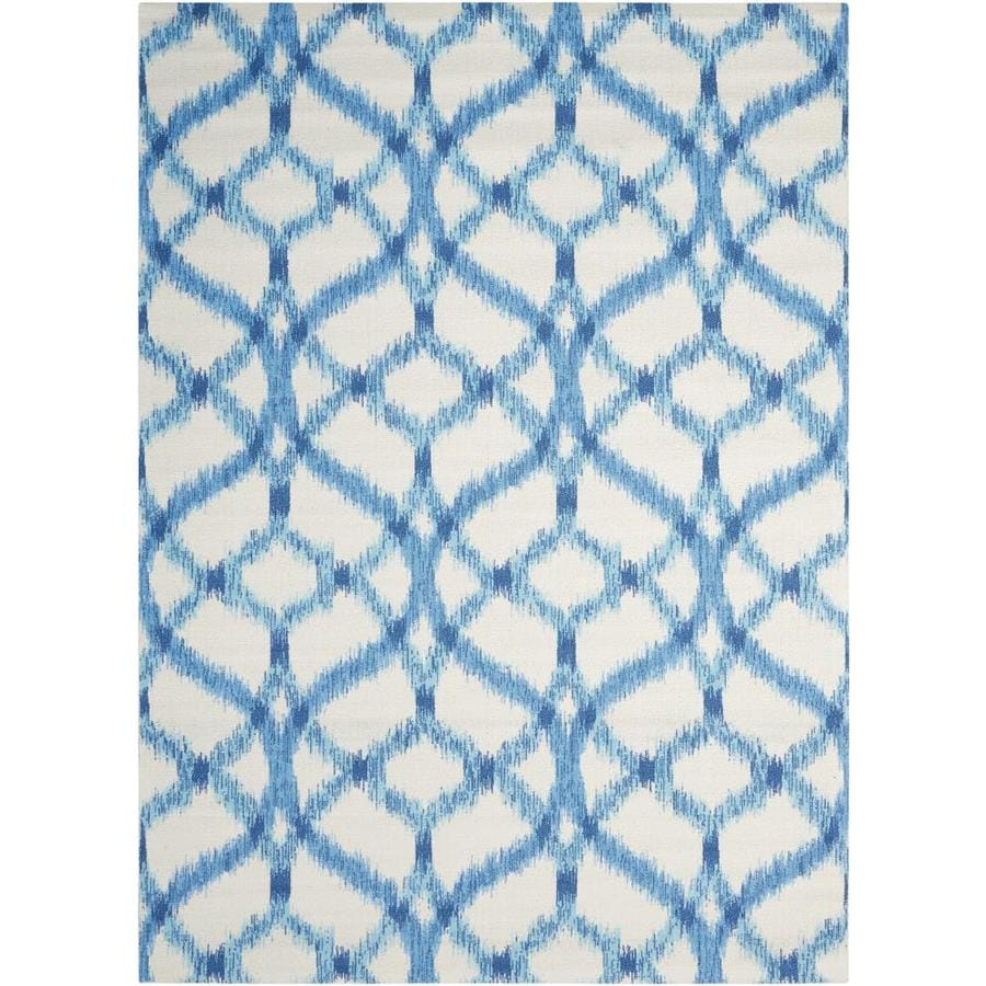 Waverly Sun and Shade Aegean Rectangular Indoor/Outdoor Machine-Made Area Rug (Common: 10 x 13; Actual: 120-in W x 156-in L)