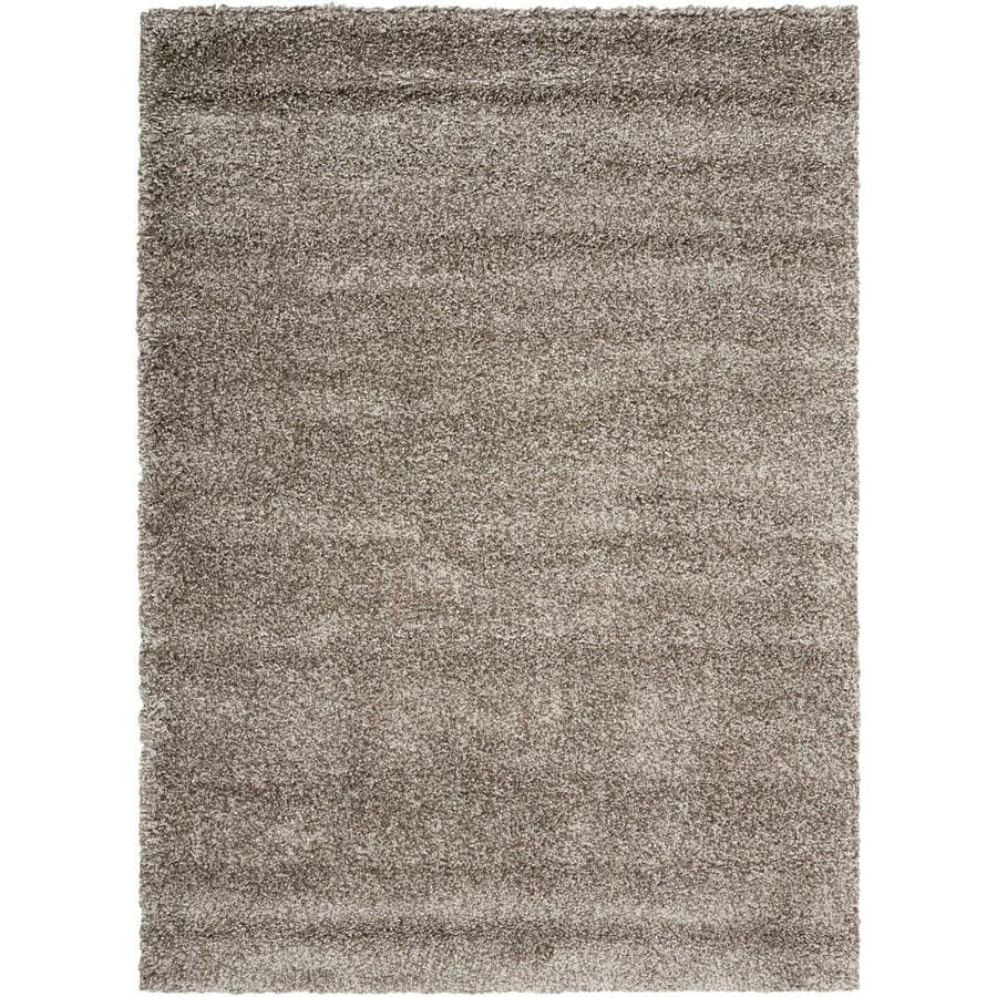 Nourison Amore Stone Indoor Area Rug (Common: 5 x 7; Actual: 5.25-ft W x 7.42-ft L x 1.5-ft dia)