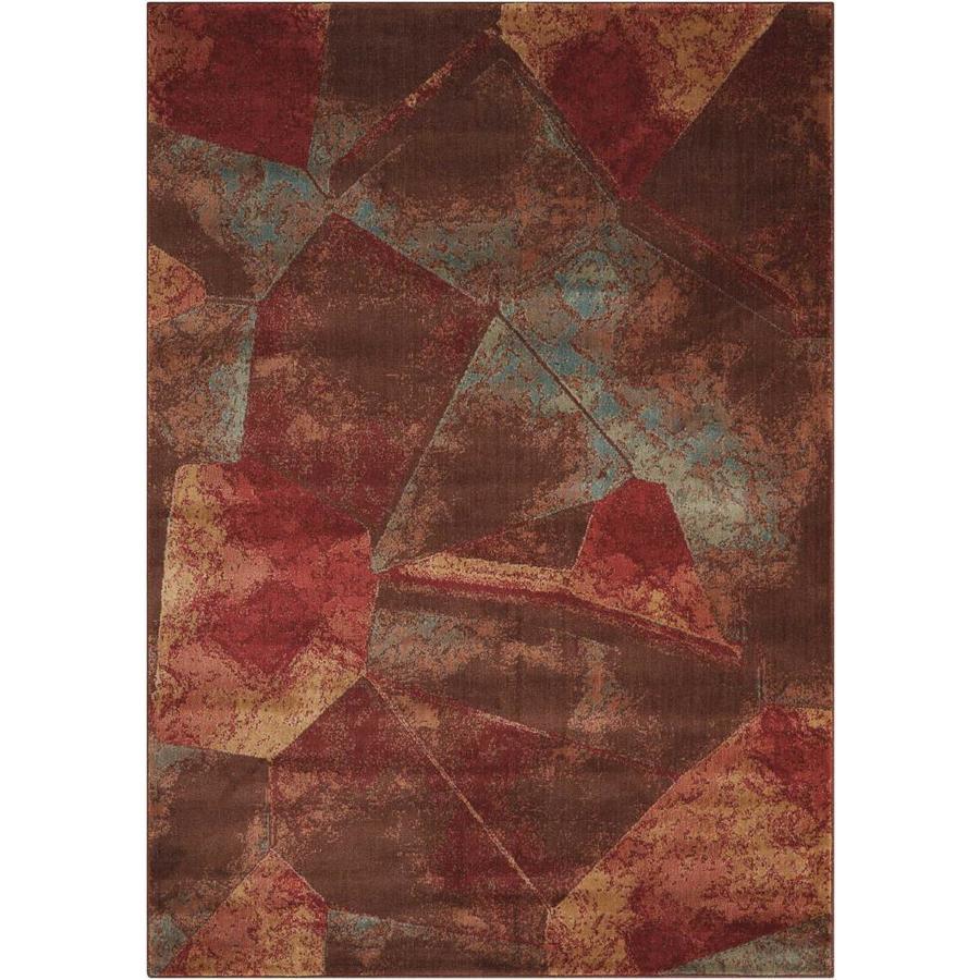 Nourison Somerset Multicolor Indoor Area Rug (Common: 5 x 7; Actual: 5.25-ft W x 7.42-ft L x 0.5-ft dia)