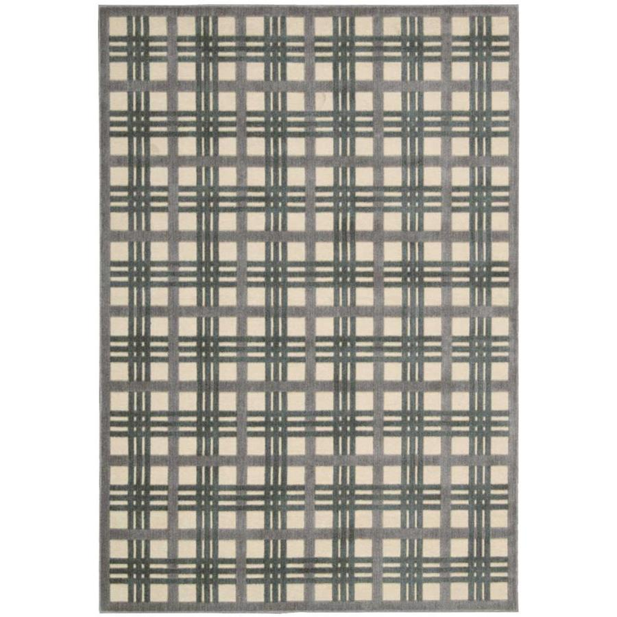 Nourison Graphic Illusions Ivory/Taupe Indoor Area Rug (Common: 8 x 10; Actual: 7.75-ft W x 10.83-ft L x 0.5-ft dia)