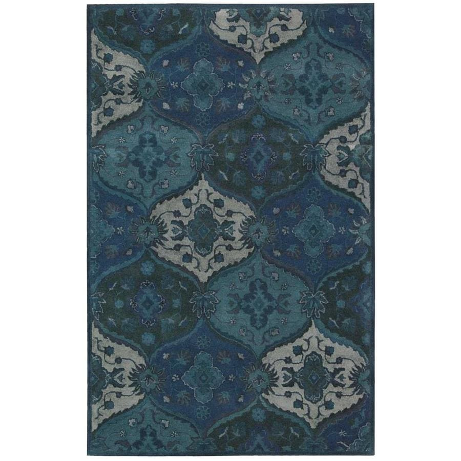 Nourison India House Denim Indoor Handcrafted Area Rug (Common: 5 x 8; Actual: 5-ft W x 8-ft L)