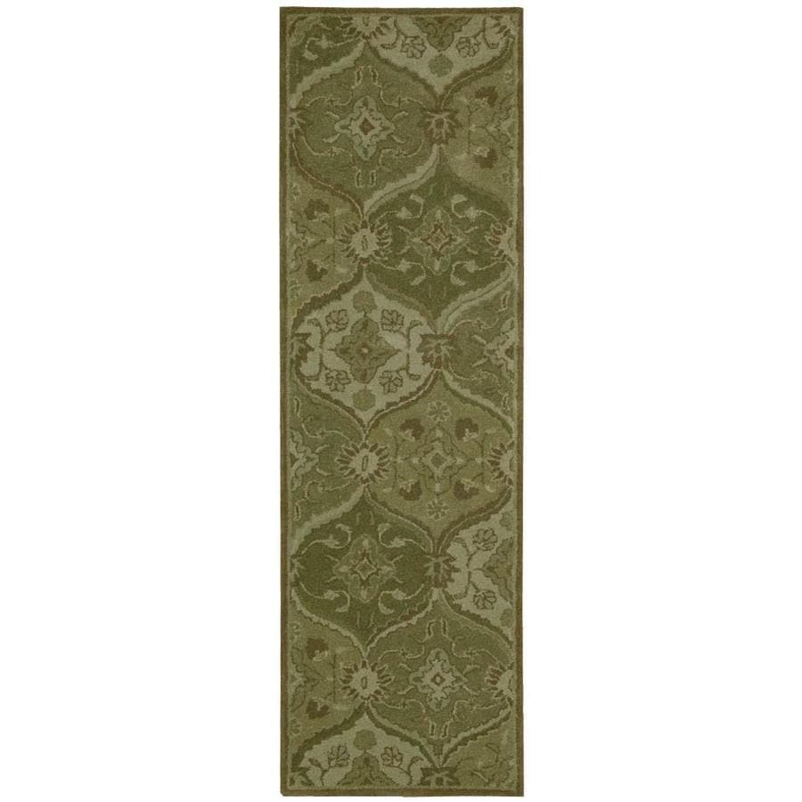 Nourison India House Green Indoor Handcrafted Area Rug (Common: 2 x 7; Actual: 2.25-ft W x 7.5-ft L x 0.5-ft dia)