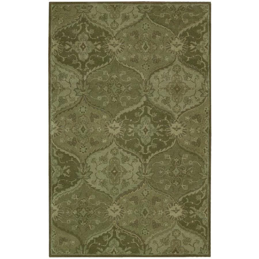 Nourison India House Green Handcrafted Area Rug (Common: 5 x 8; Actual: 5-ft W x 8-ft L)