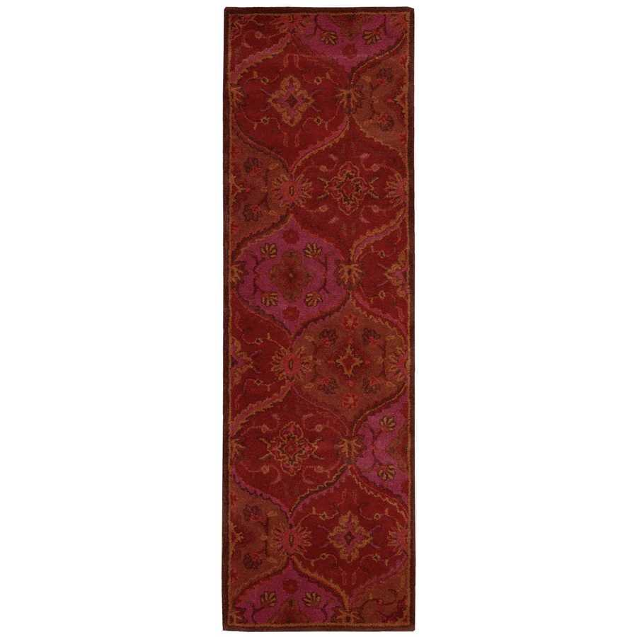 Nourison India House Red Indoor Handcrafted Area Rug (Common: 2 x 7; Actual: 2.25-ft W x 7.5-ft L)