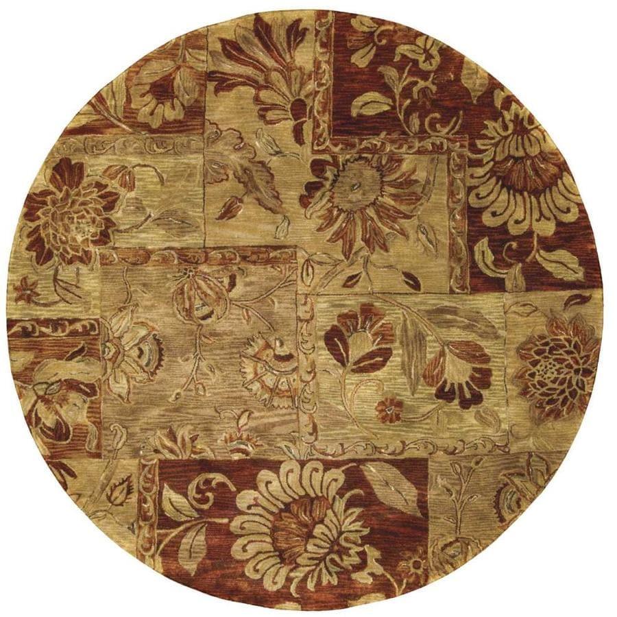 Round Or Rectangular Area Rug: Nourison Jaipur Multicolor Round Indoor Handcrafted Area