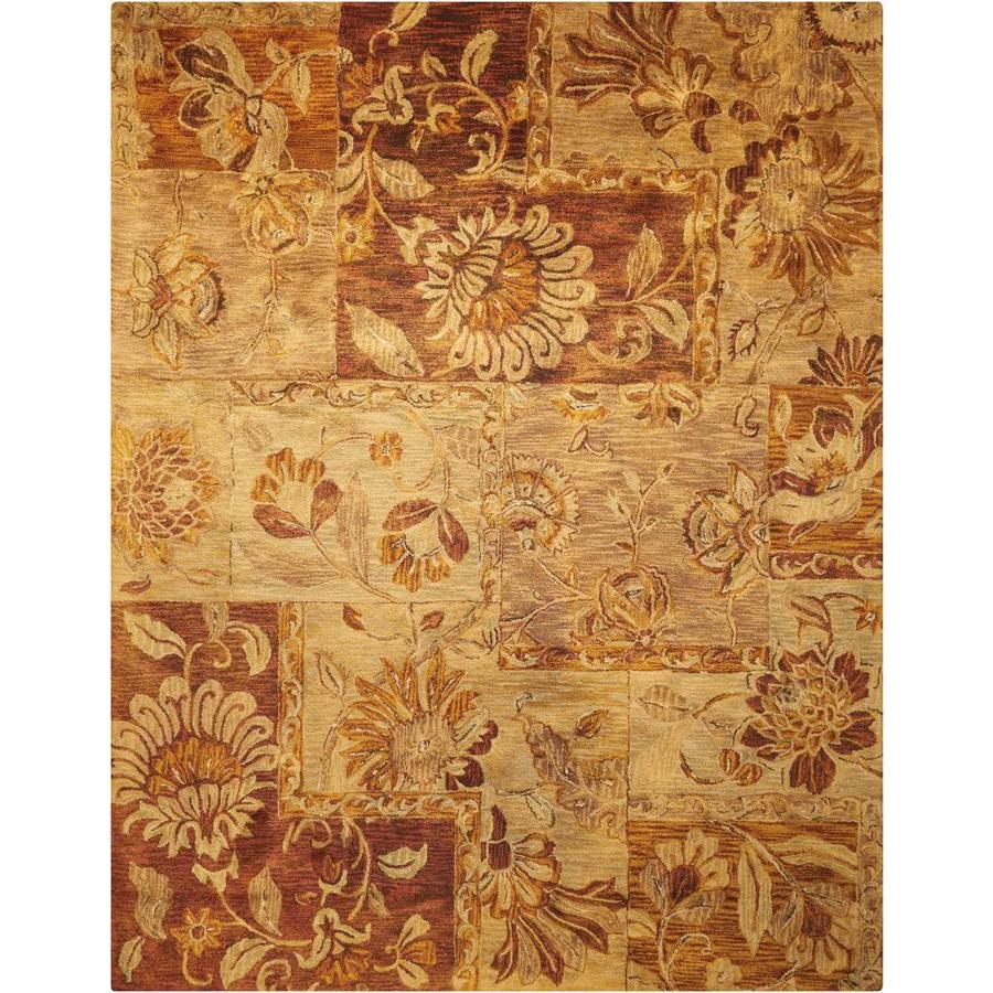 Nourison Jaipur Multicolor Indoor Handcrafted Area Rug (Common: 8 x 10; Actual: 7.75-ft W x 9.75-ft L x 0.75-ft dia)