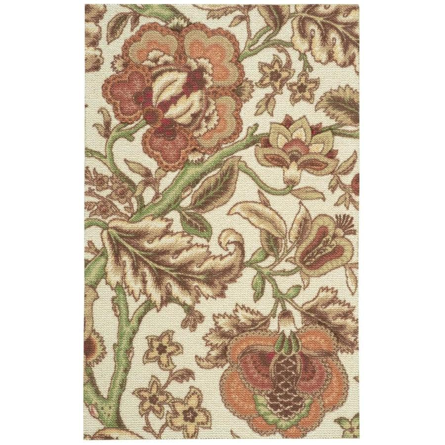 Nourison WAV03/GLOBAL AWAKENG Pear  Indoor  Nature Area Rug (Common: 2 x 4; Actual: 2-ft W x 4-ft L)