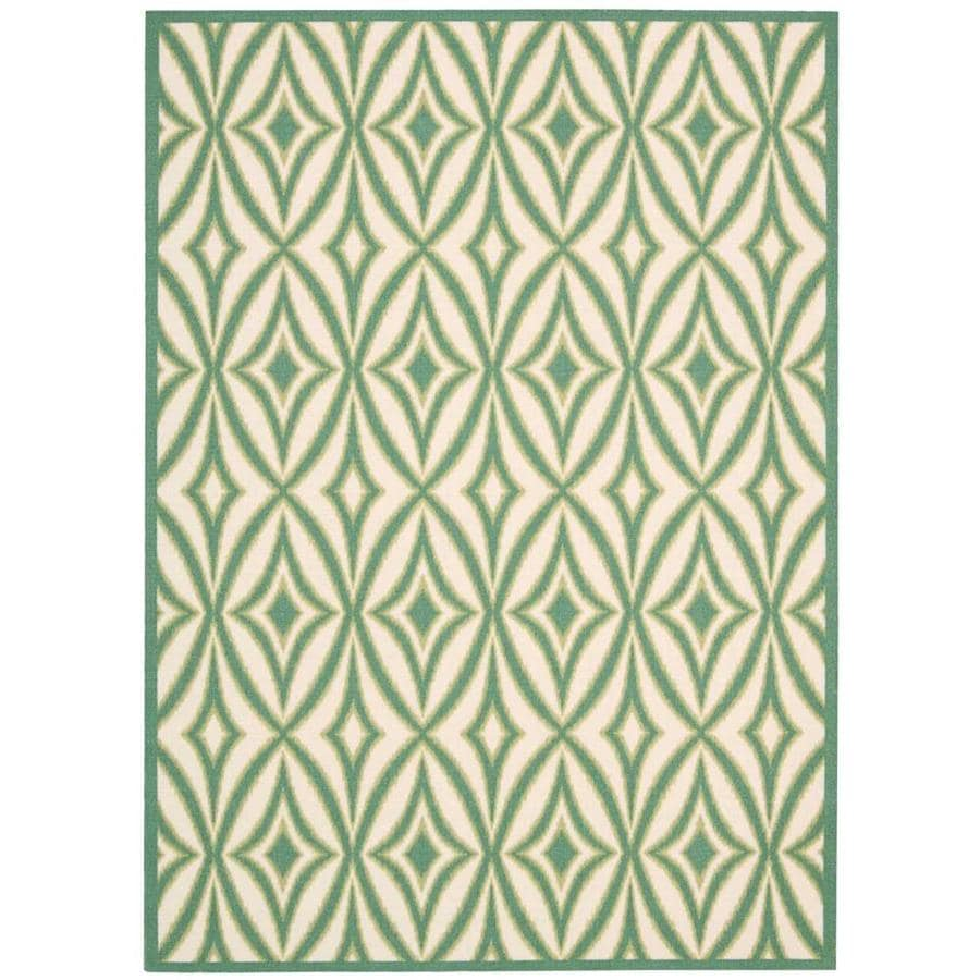 Nourison Wav01/Sun and Shade Carnival Rectangular Indoor/Outdoor Area Rug (Common: 5 x 7; Actual: 5.25-ft W x 7.42-ft L x 0.25-ft dia)