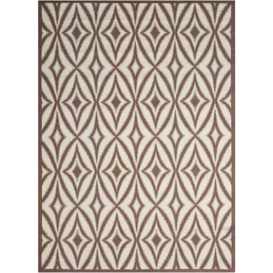 Nourison Wav01/Sun and Shade Flint Rectangular Indoor/Outdoor Area Rug (Common: 5 x 7; Actual: 5.25-ft W x 7.42-ft L x 0.25-ft dia)