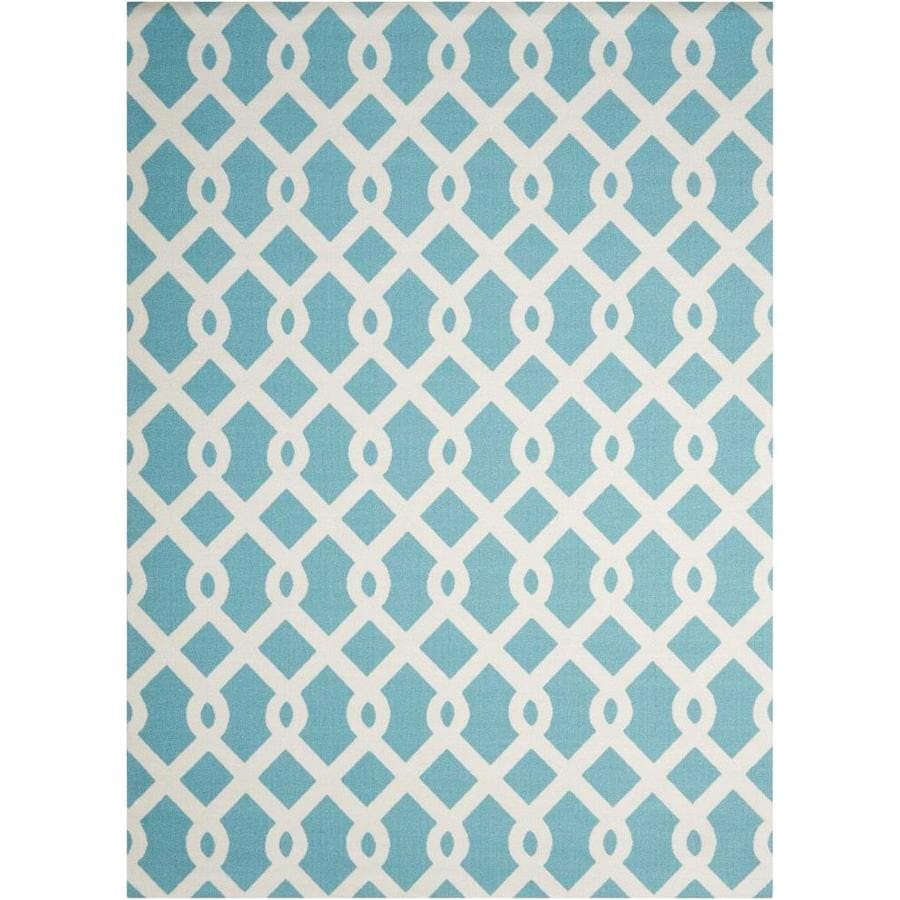 Nourison Wav01/Sun and Shade Poolside Rectangular Indoor/Outdoor Area Rug (Common: 8 x 10; Actual: 7.75-ft W x 10.83-ft L x 0.25-ft dia)