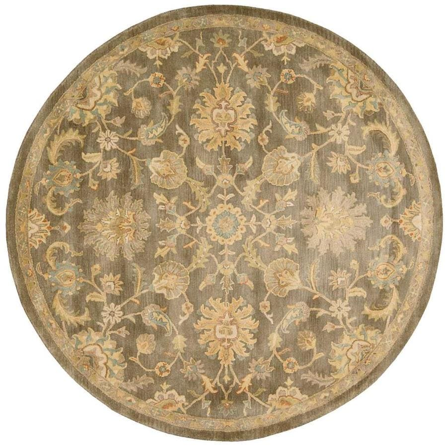 Nourison Jaipur Mushroom Round Indoor Handcrafted Area Rug (Common: 8 x 8; Actual: 8-ft W x 8-ft L x 0.75-ft dia)