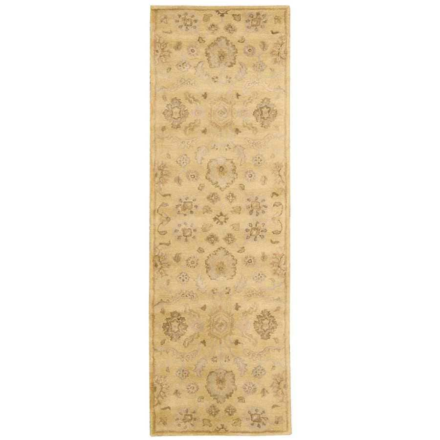 Nourison Jaipur Light Gold Indoor Handcrafted Area Rug (Common: 2 x 8; Actual: 2.3333-ft W x 8-ft L)