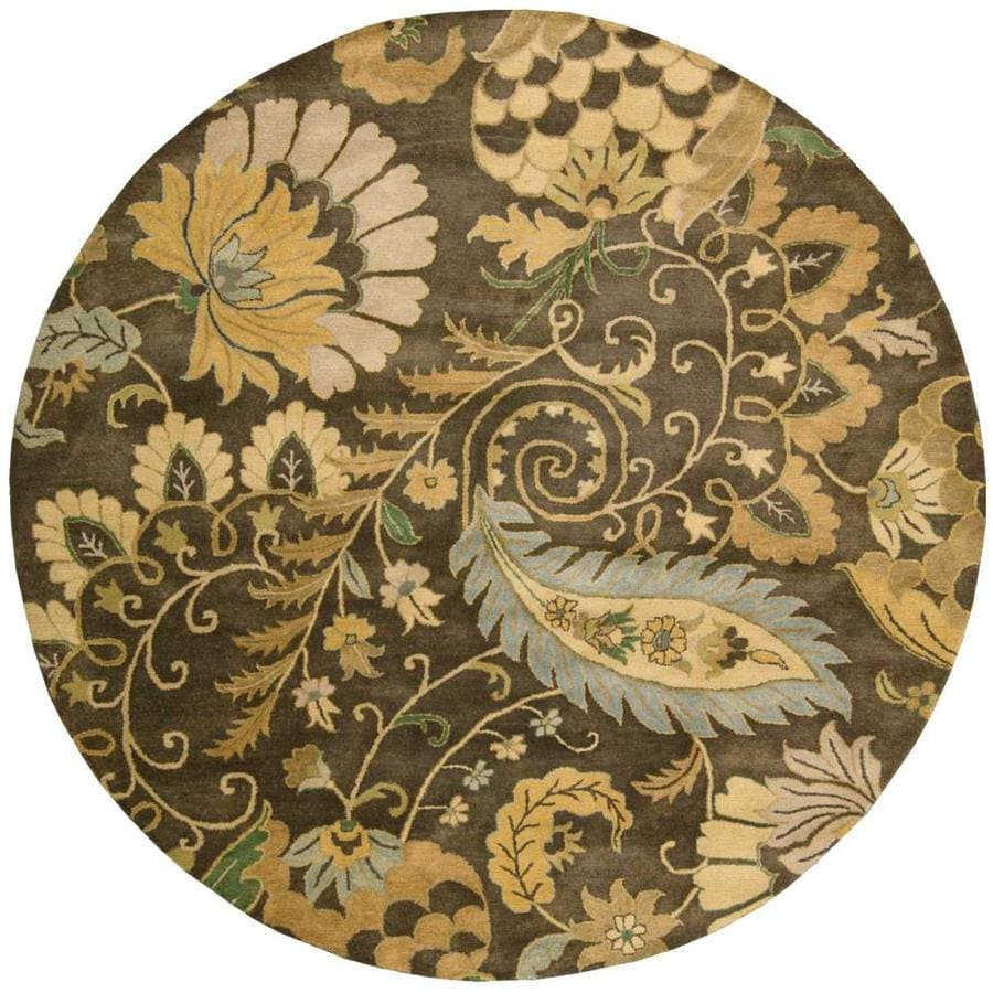 Nourison Jaipur Moss Round Indoor Handcrafted Area Rug (Common: 8 x 8; Actual: 8-ft W x 8-ft L x 0.75-ft dia)