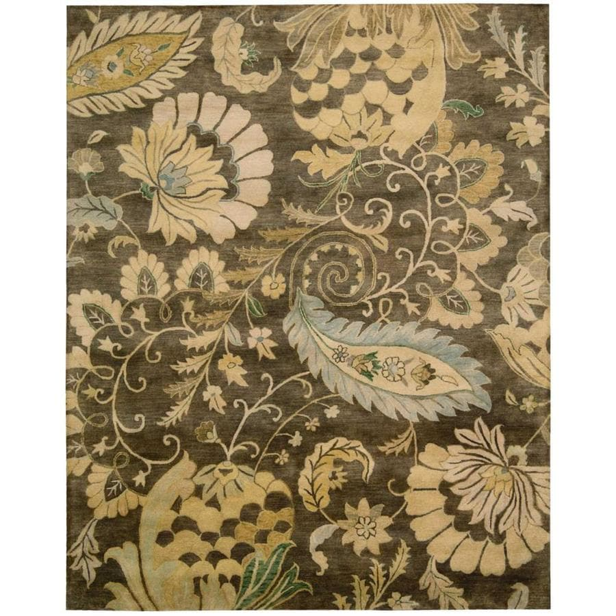Nourison Jaipur Moss Rectangular Indoor Handcrafted Area Rug (Common: 9 x 13; Actual: 9.5-ft W x 13.5-ft L x 0.75-ft dia)