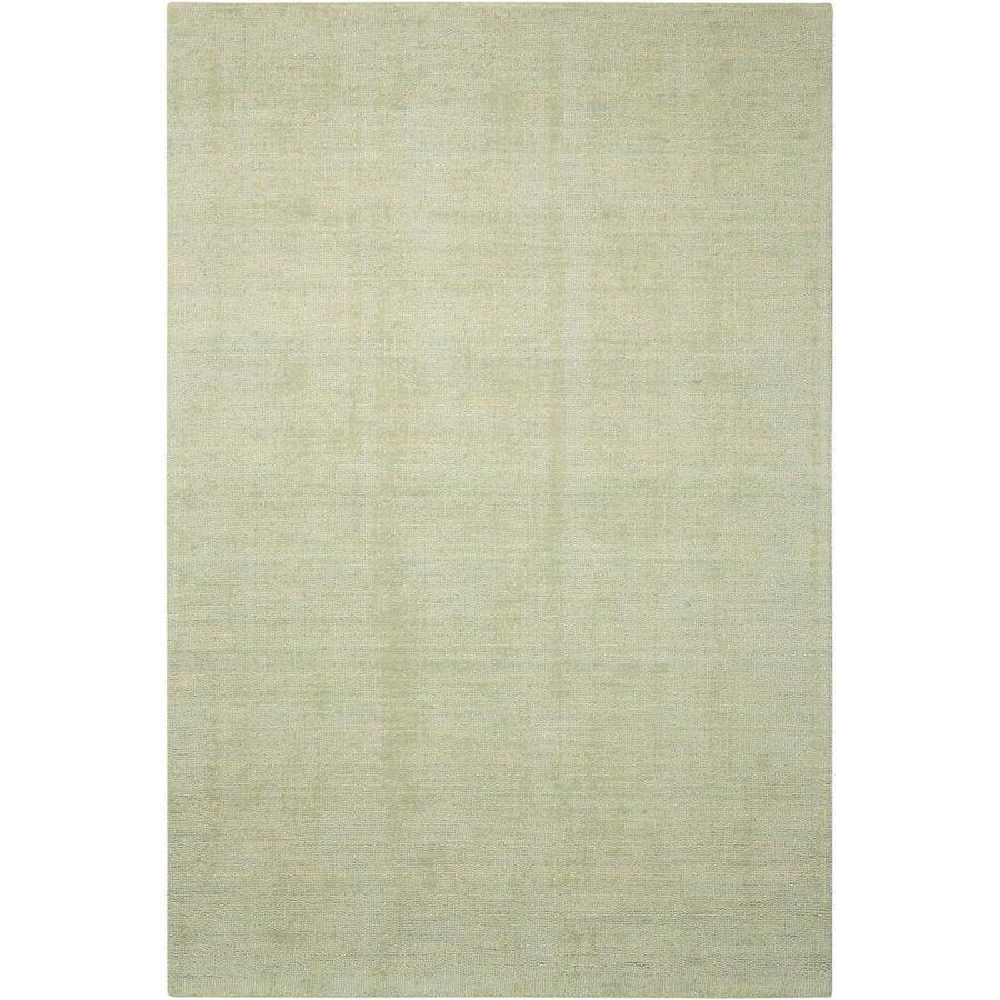 Nourison Wav10 Grand Suite Mist Rectangular Indoor Handcrafted Area Rug (Common: 8 x 10; Actual: 8-ft W x 10.5-ft L x 0.5-ft dia)