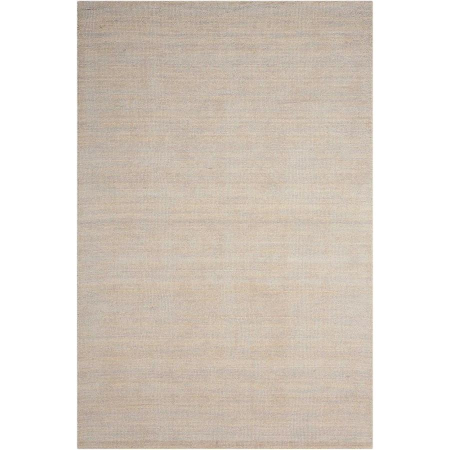 Nourison Wav10 Grand Suite Sterling Rectangular Indoor Handcrafted Area Rug (Common: 5 x 7; Actual: 5.5-ft W x 7-ft L x 0.5-ft dia)