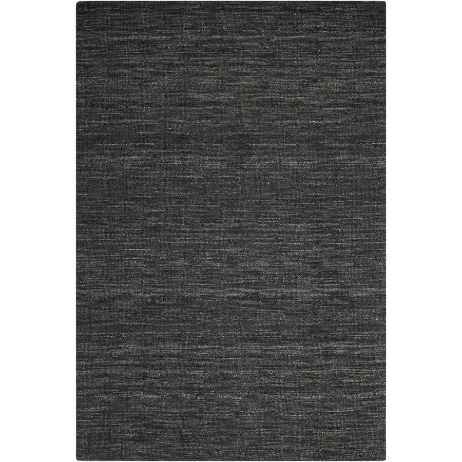 Nourison Wav10 Grand Suite Char Rectangular Indoor Handcrafted Area Rug (Common: 5 x 7; Actual: 5-ft W x 7.5-ft L x 0.5-ft dia)