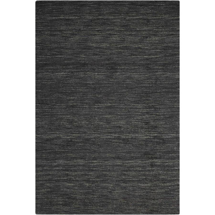 Nourison Wav10 Grand Suite Char Rectangular Indoor Handcrafted Area Rug (Common: 8 x 10; Actual: 8-ft W x 10.5-ft L x 0.5-ft dia)