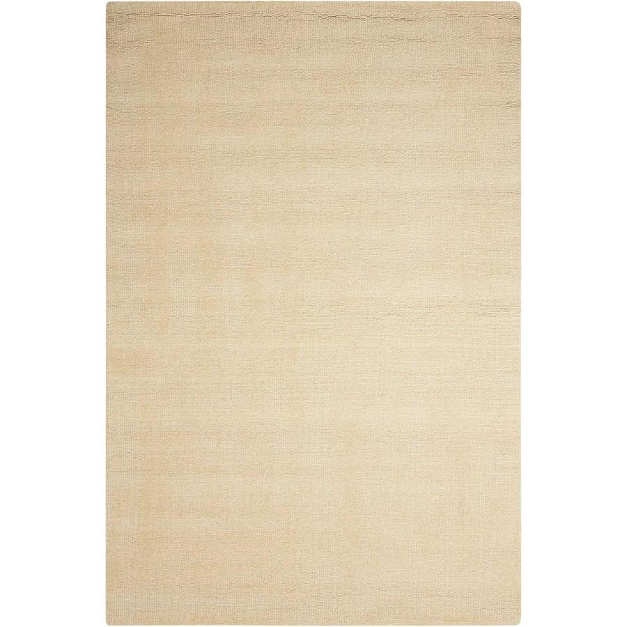 Nourison Wav10 Grand Suite Cream Indoor Handcrafted Area Rug (Common: 5 x 7; Actual: 5-ft W x 7.5-ft L x 0.5-ft dia)