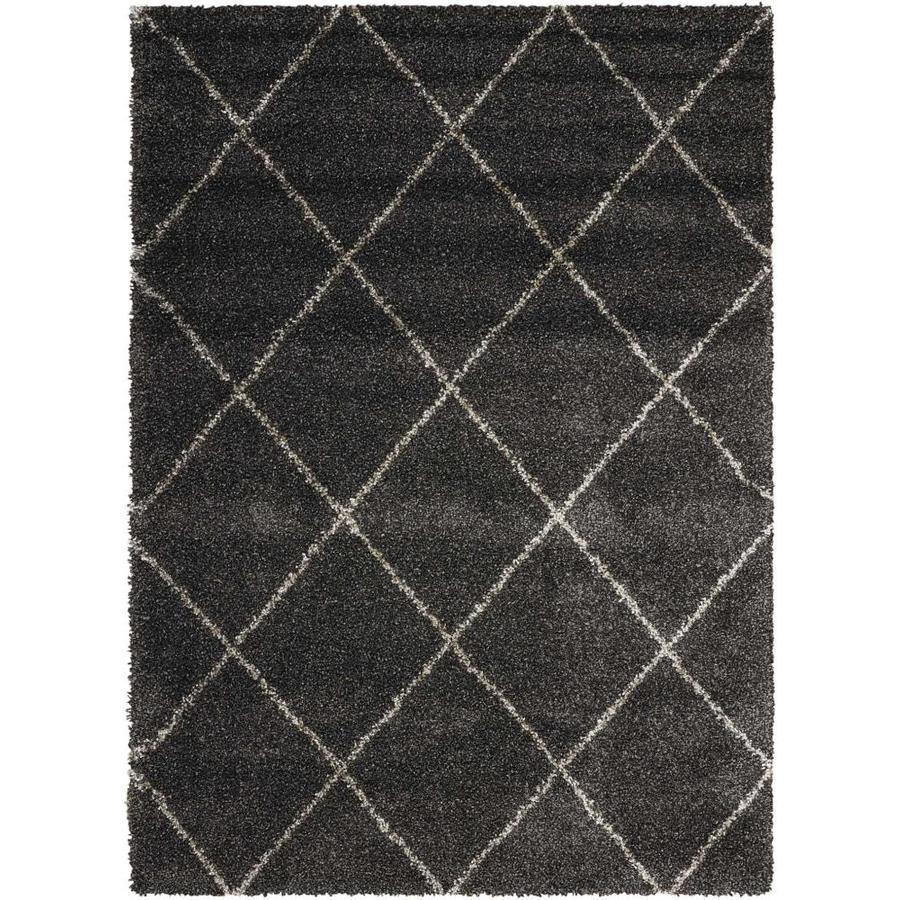 Rug Store Brisbane: Shop Nourison Brisbane Charcoal Indoor Area Rug (Common: 5