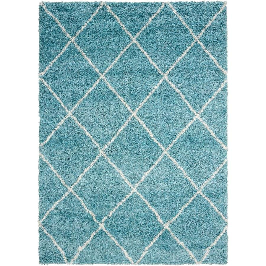 Persian Rug Brisbane: Shop Nourison Brisbane Aqua Indoor Area Rug (Common: 5 X 8