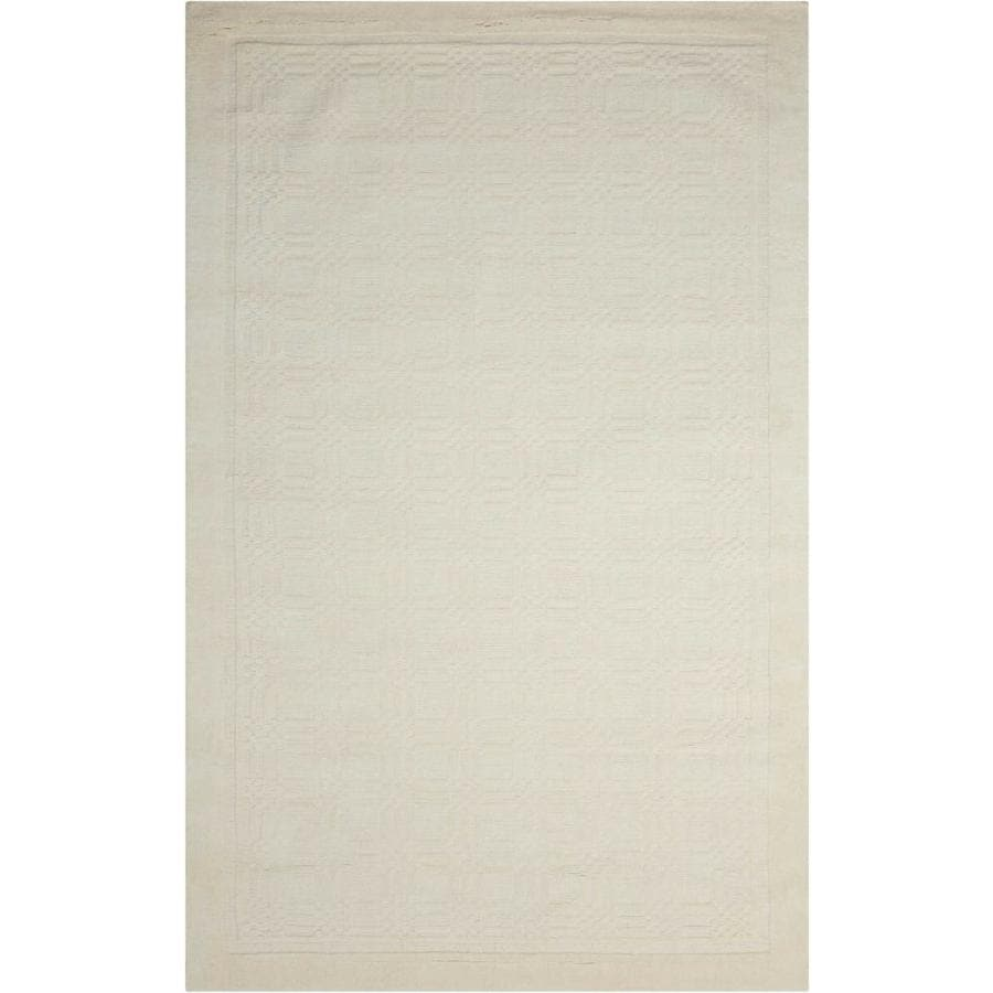 Nourison Westport Ivory Handcrafted Area Rug (Common: 5 x 8; Actual: 5-ft W x 8-ft L)