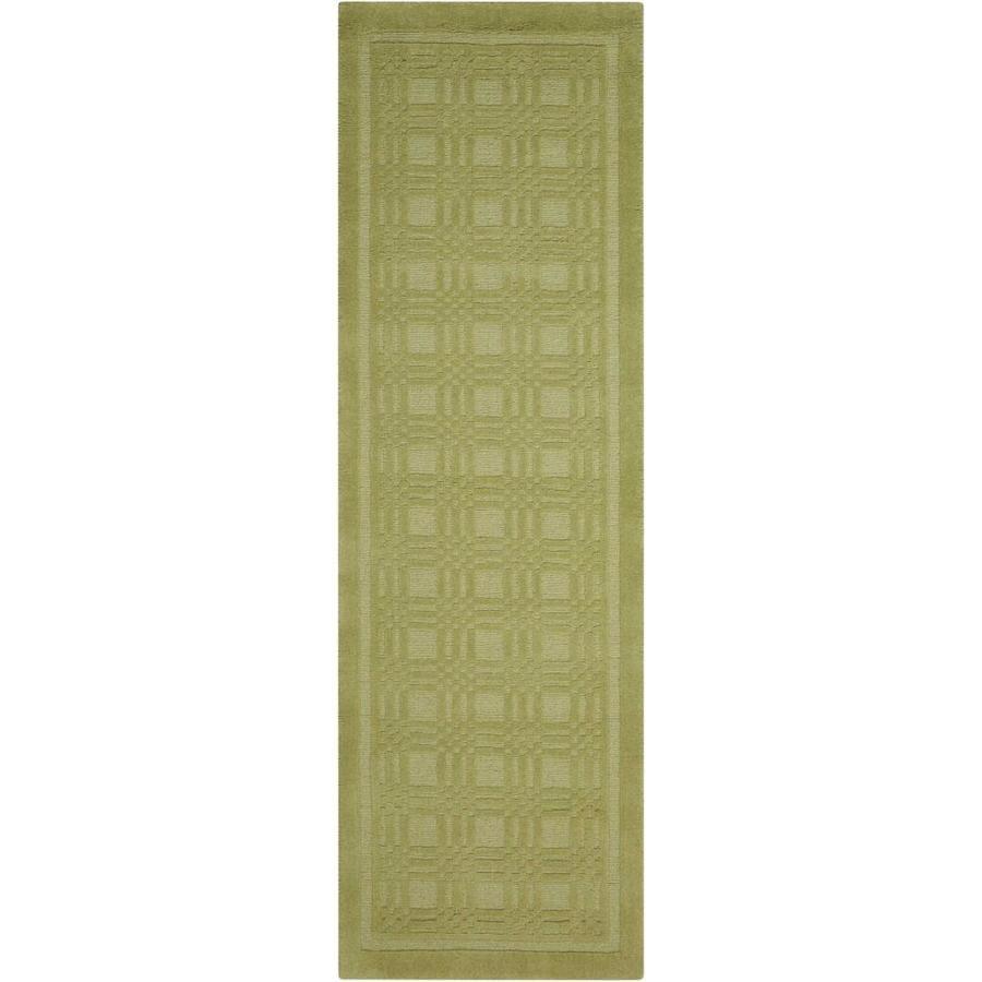 Nourison Westport Lime Rectangular Indoor Handcrafted Area Rug (Common: 2 x 7; Actual: 2.25-ft W x 7.5-ft L x 0.5-ft dia)