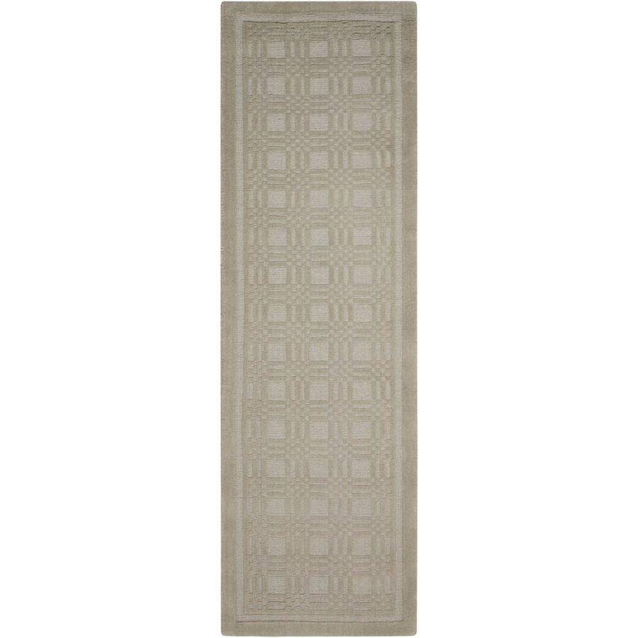 Nourison Westport Grey Rectangular Indoor Handcrafted Area Rug (Common: 2 x 7; Actual: 2.25-ft W x 7.5-ft L x 0.5-ft dia)