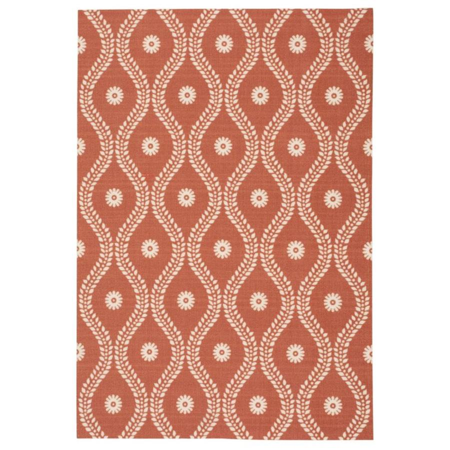 Nourison Home and Garden Rust Rectangular Indoor/Outdoor Machine-Made Novelty Area Rug (Common: 10 x 14; Actual: 10-ft W x 13-ft L)