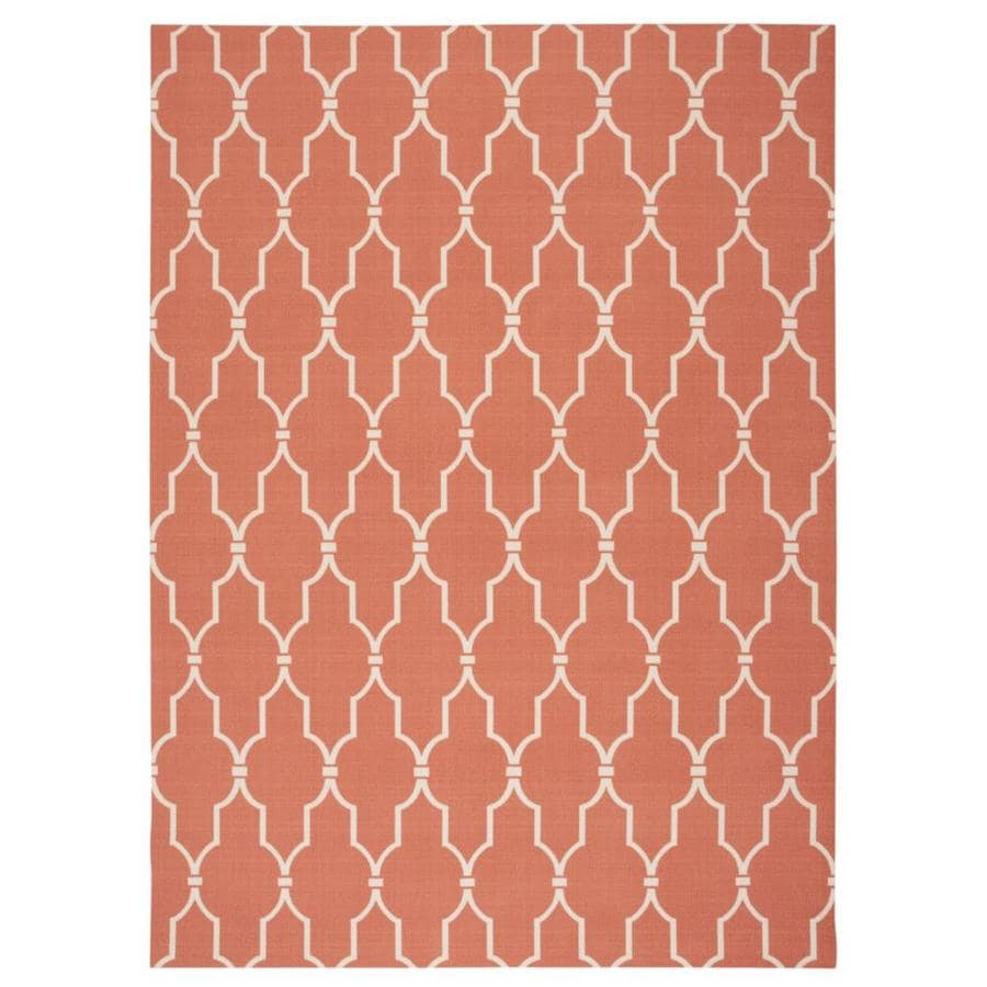 Home and Garden Home and Garden Orange Rectangular Indoor/Outdoor Machine-Made Area Rug (Common: 5 x 7; Actual: 63-in W x 89-in L)