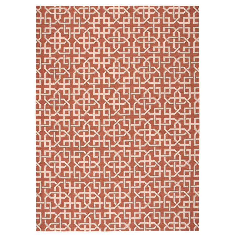 Home and Garden Home and Garden Rust Rectangular Indoor/Outdoor Machine-Made Novelty Area Rug (Common: 5 x 7; Actual: 5.3-ft W x 7.5-ft L)