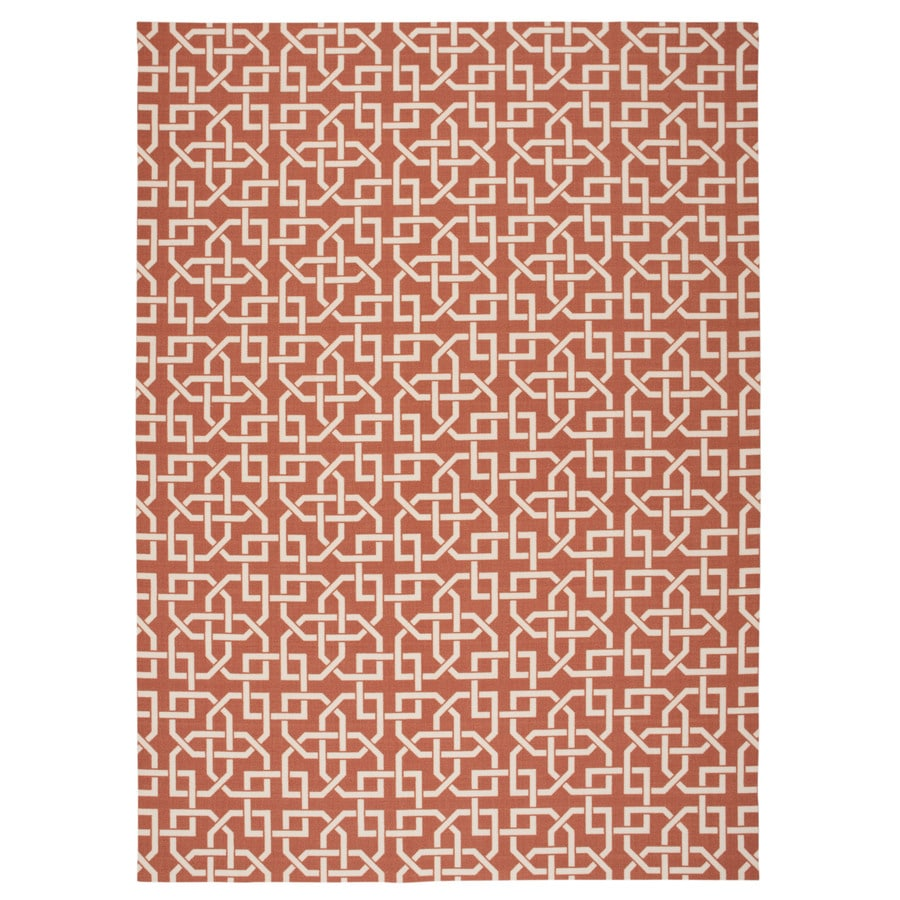 Nourison Home and Garden Rust Rectangular Indoor/Outdoor Machine-Made Novelty Area Rug (Common: 8 x 10; Actual: 7.9-ft W x 10.1-ft L)