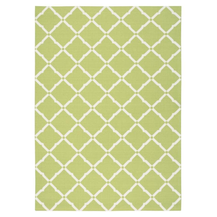 Home and Garden Home and Garden Light Green Rectangular Indoor/Outdoor Machine-Made Novelty Area Rug (Common: 5 x 7; Actual: 5.3-ft W x 7.5-ft L)