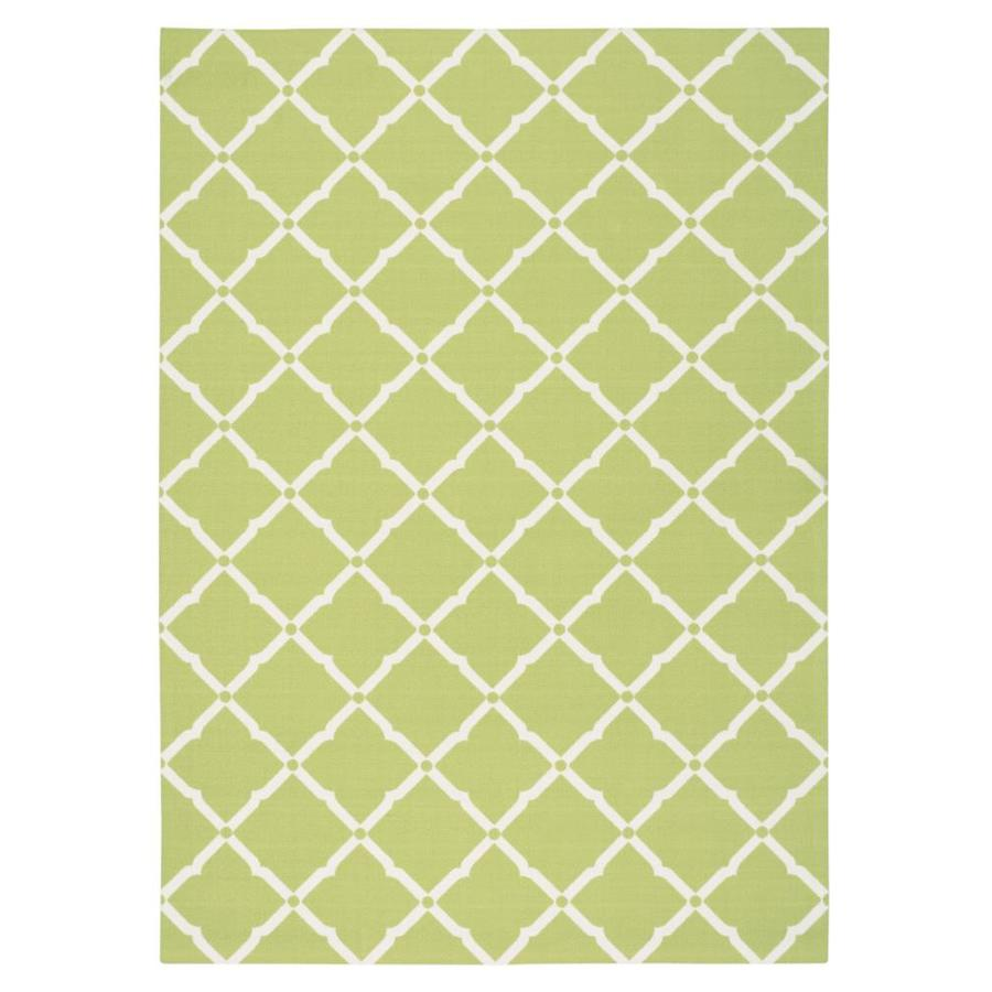 Home and Garden Home and Garden Light Green Rectangular Indoor/Outdoor Machine-Made Area Rug (Common: 7 x 10; Actual: 93-in W x 130-in L)
