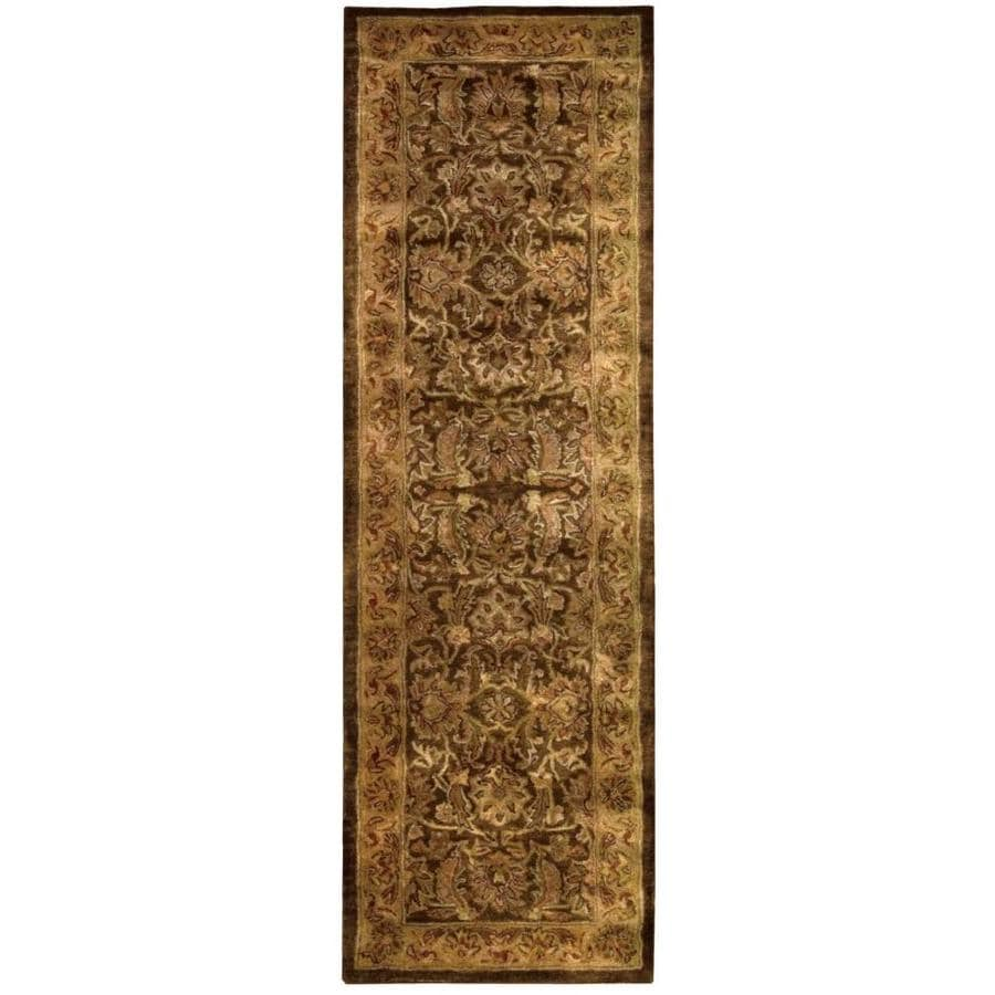 Nourison Jaipur Brown Indoor Handcrafted Area Rug (Common: 2 x 8; Actual: 2.3333-ft W x 8-ft L)