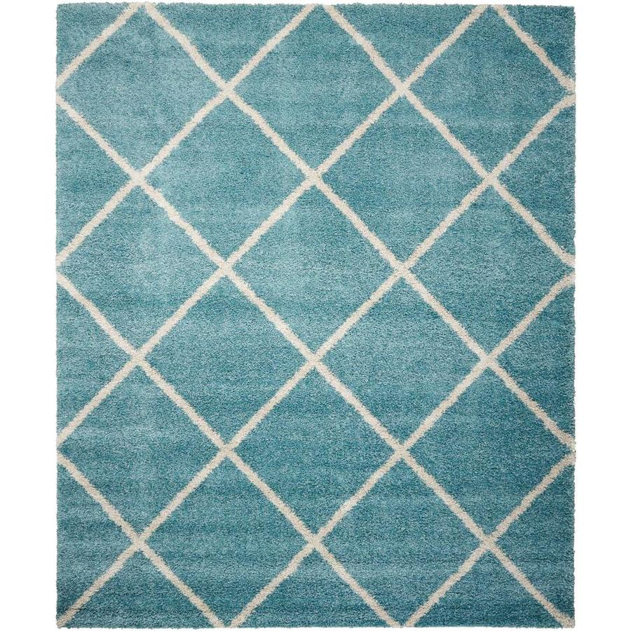 Persian Rug Brisbane: Shop Nourison Brisbane Aqua Rectangular Indoor Area Rug